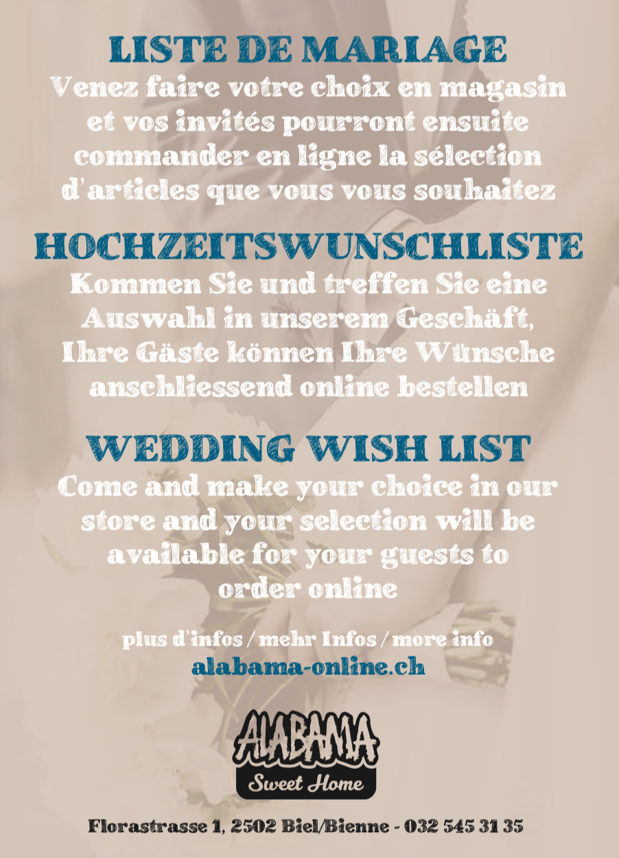 wedding wish list alabama stores